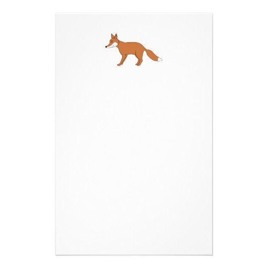 Red Fox. Stationery