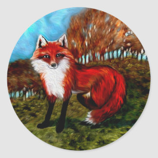 Red Fox Stickers