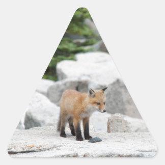 Red Fox Triangle Sticker