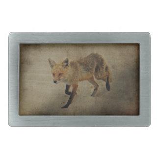 Red Fox Vixen - Island Beach State Park - NJ Rectangular Belt Buckle