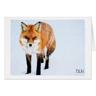 Red Fox/Wildlife Art/Watercolor Look