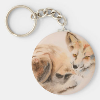 Red Fox Wildlife Watercolor Friday Harbor Keychain