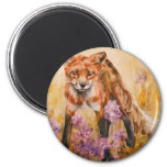 Red Fox Wildlife Watercolor Wildlife Magnets