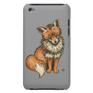 Red Fox with Grey background iPod Touch Cases