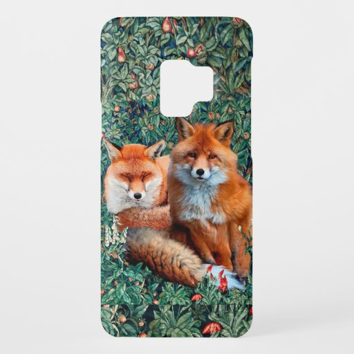 RED FOXES AMONG GREENERY, FOLIAGE AND FLOWERS Case-Mate SAMSUNG GALAXY S9 CASE