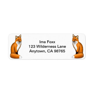 Red Foxes Customizable Label