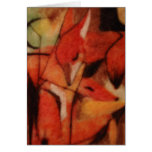 Red Foxes Greeting Card