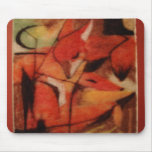 Red Foxes Mouse Pads