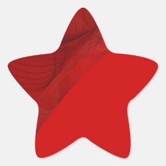 Red Fractal Background Star Sticker