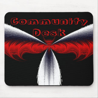 Red Fractal Bat Wings _ CUSTOMIZE ME Mouse Pads