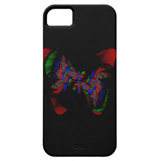 red fractal butterfly iPhone 5 covers