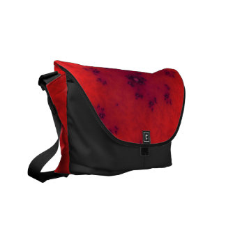 Red Fractal Courier Bags