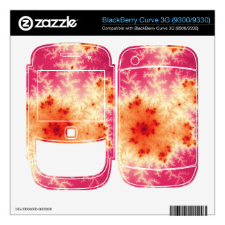 Red Fractal Decals For The BlackBerry