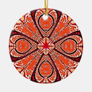 Red Fractal Design Ornament