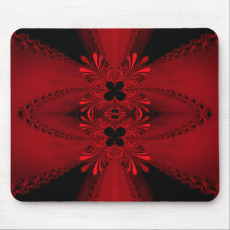 Red Fractal - Doily Mouse Mat