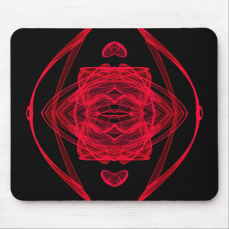 Red Fractal - Double Delight Mouse Pads