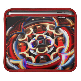red fractal explosion ipad sleeve