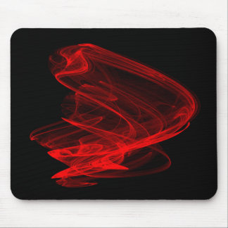 Red Fractal - Flame Mouse Pads