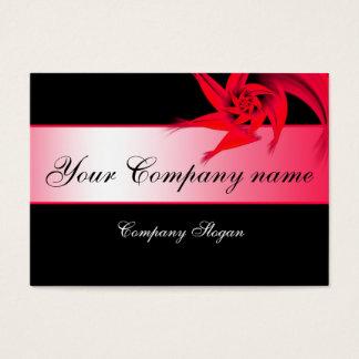 Red Fractal Flower Business Card