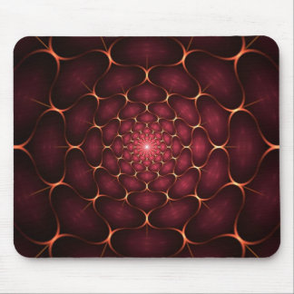 Red Fractal Mouse Pad