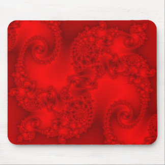 Red Fractal Mousepad