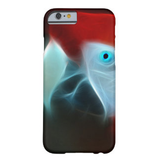 Red Fractal Parrot blue eyes Barely There iPhone 6 Case