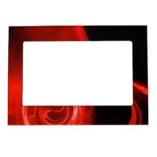 RED FRACTAL ROSE MAGNETIC PICTURE FRAME