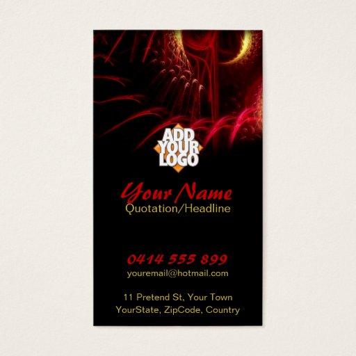 Red Fractal Scifi Fantasy Art Business Card