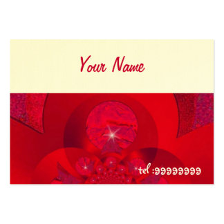 red fractal with sparkle large business card