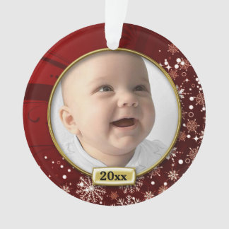 Red Frame Baby's 1st Christmas Ornament