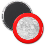 Red Frame Magnet