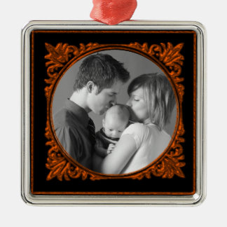 Red Frame Metal Ornament