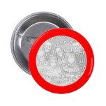 Red Framed Round Photo Button