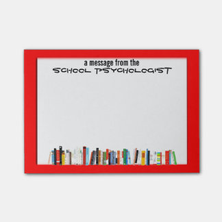 Red Framed School Psychologist's Sticky Notes Post-it® Notes