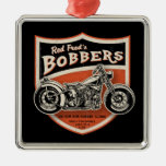 Red Fred's Bobbers Square Metal Christmas Ornament