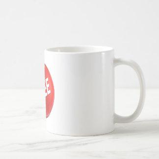 Red Free Button Coffee Mug