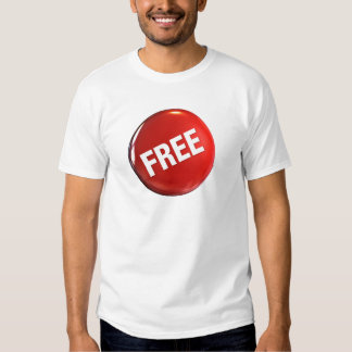 Red Free Button T Shirt