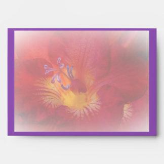 Red Freesia Flower Items Envelope