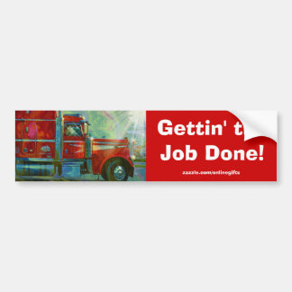 Red Freight Lorry Truckers Bumper Sticker Series