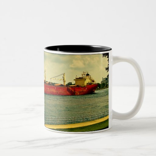 Red Freighter Two-Tone Coffee Mug
