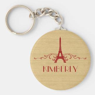 Red French Flourish Keychain