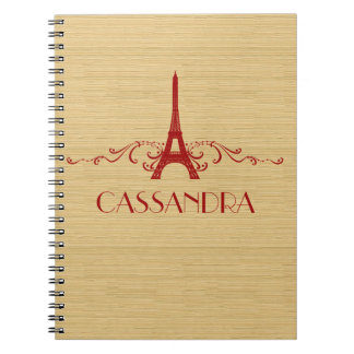 Red French Flourish Notebook
