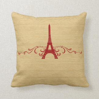 Red French Flourish Pillow