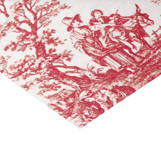 """Red French Toile 10"""" X 15"""" Tissue Paper"""