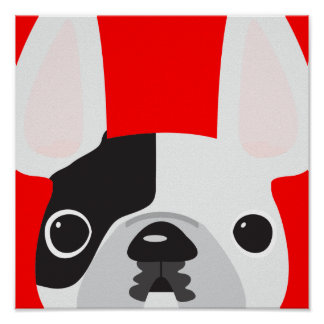 Red Frenchie Poster