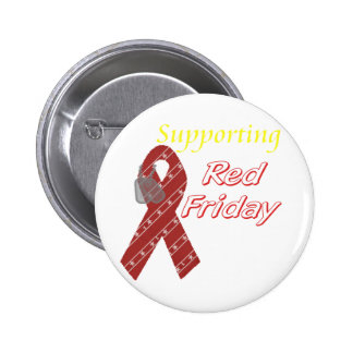 Red Friday 2 Inch Round Button