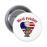 Red Friday Army Male Button