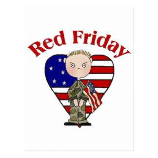 Red Friday Army Male Postcard