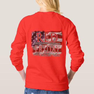 RED Friday Patriotic Flag Sweatshirt