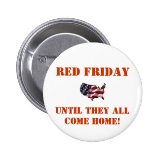 Red Friday - Red Pinback Button